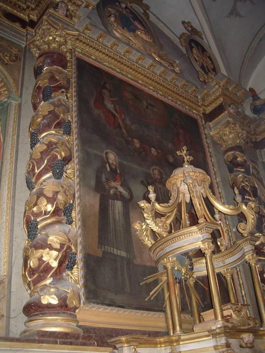 Toile du retable de l'église St-Pierre, Passy (cliché Bernard Théry)