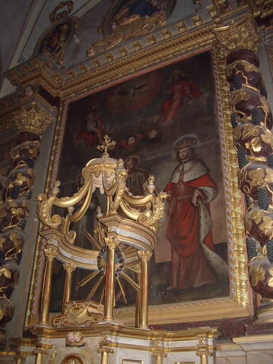 Toile du retable de l'église St-Pierre, à Passy (cliché Bernard Théry)