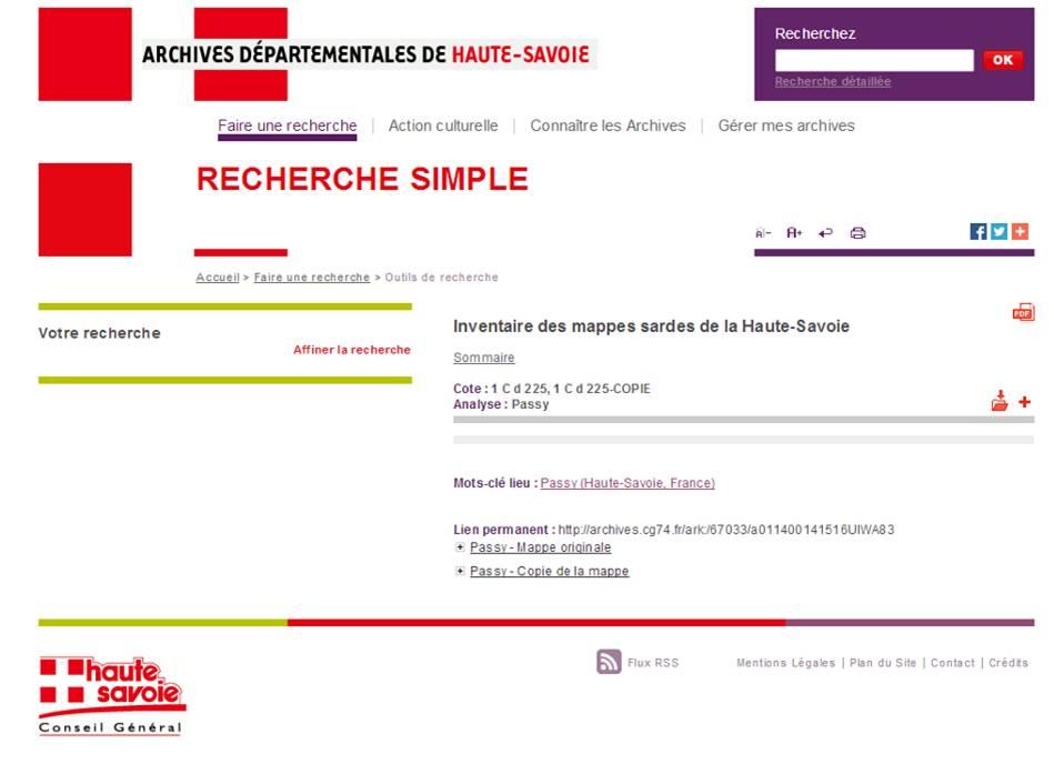 site_archives_depart_Haute_Savoie_mappe_Passy