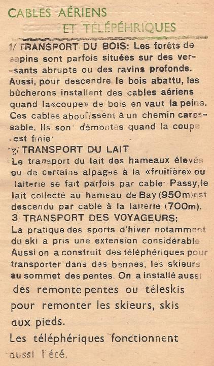 Journal scolaire de Passy « Face au Mont-Blanc », janvier 1948, p. 13 « Câbles aériens et téléphériques »