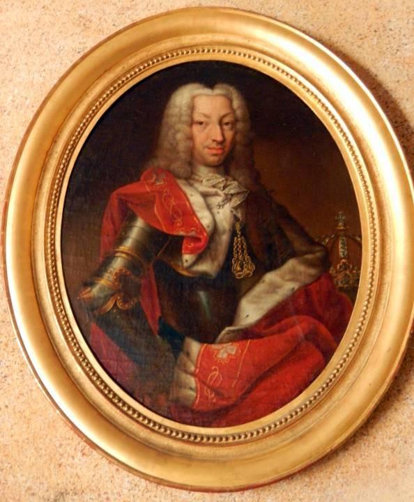 Portrait de Charles-Emmanuel III par Claudio Francesco Beaumont, exposé aux Charmettes à Chambéry (cliché Bernard Théry)
