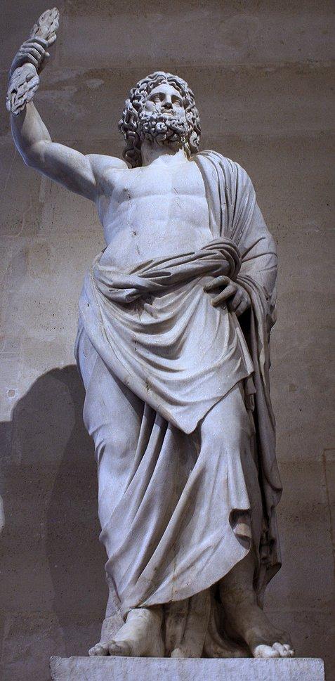 Statue de JUPITER de Smyrne, IIe siècle (musée du Louvre)