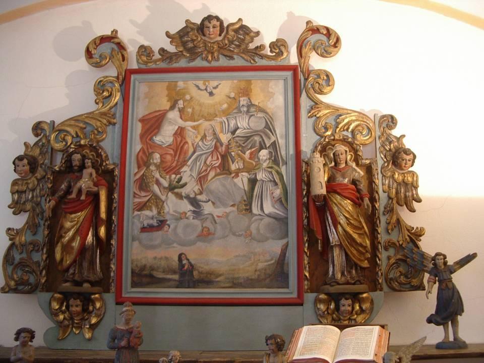 Retable de la chapelle de Bay  lors des Journées du patrimoine de sept. 2012 (cliché Bernard Théry)