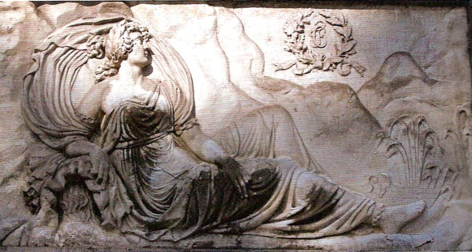 Bas-relief de la colonne Charles Félix (photo André Fournier, Ch. Sorrel, op. cit. p. 384)