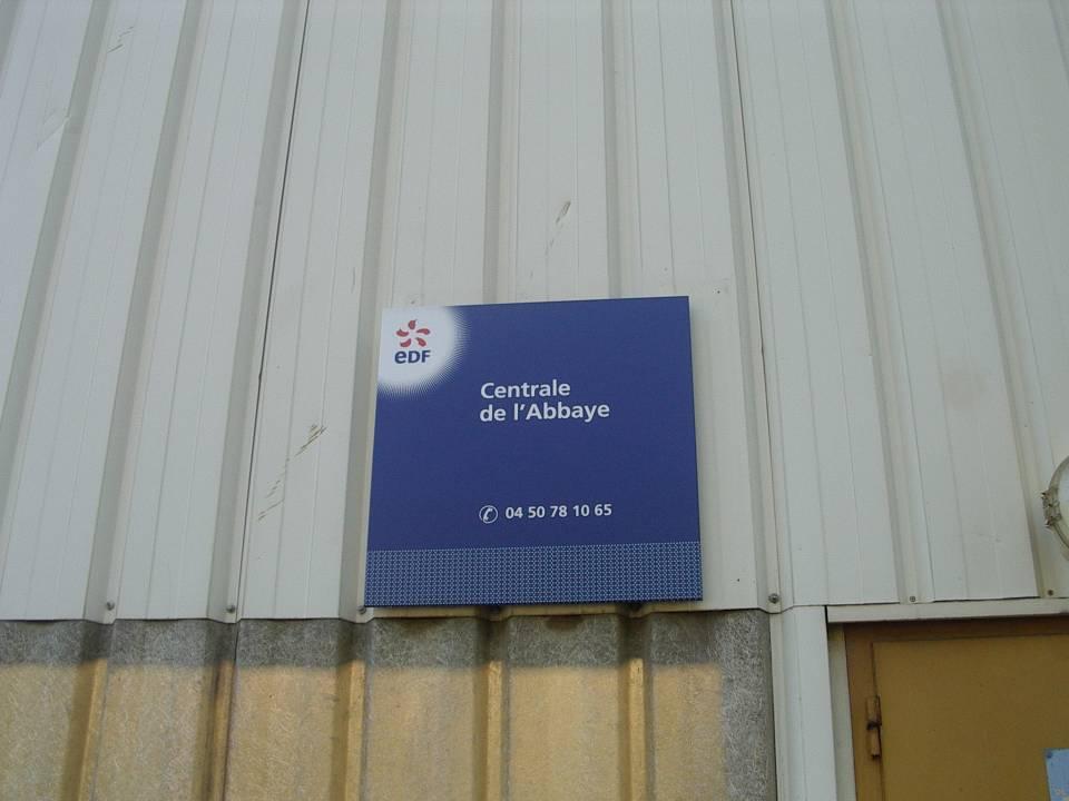 Centrale EDF de l'Abbaye (cliché Bernard Théry)