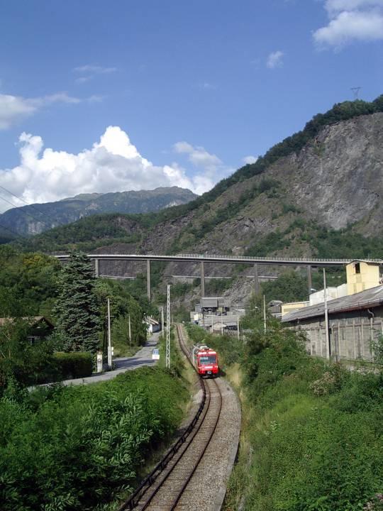 Le train à Chedde (cliché Bernard Théry)