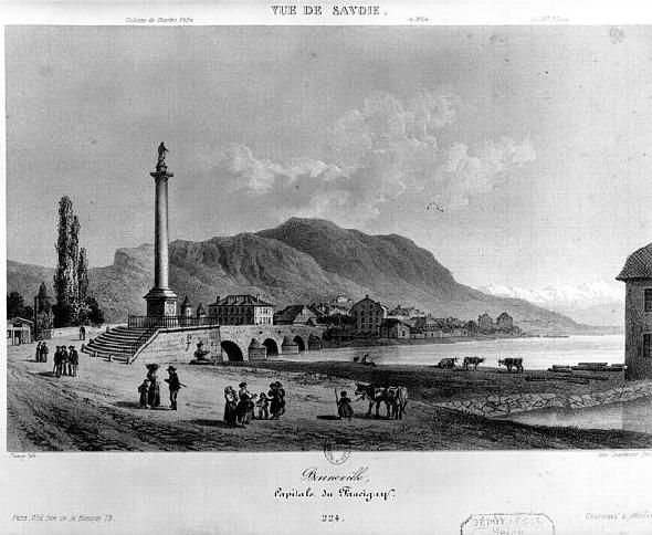 Colonne Charles Félix à Bonneville (photo du site patrimoine de France)