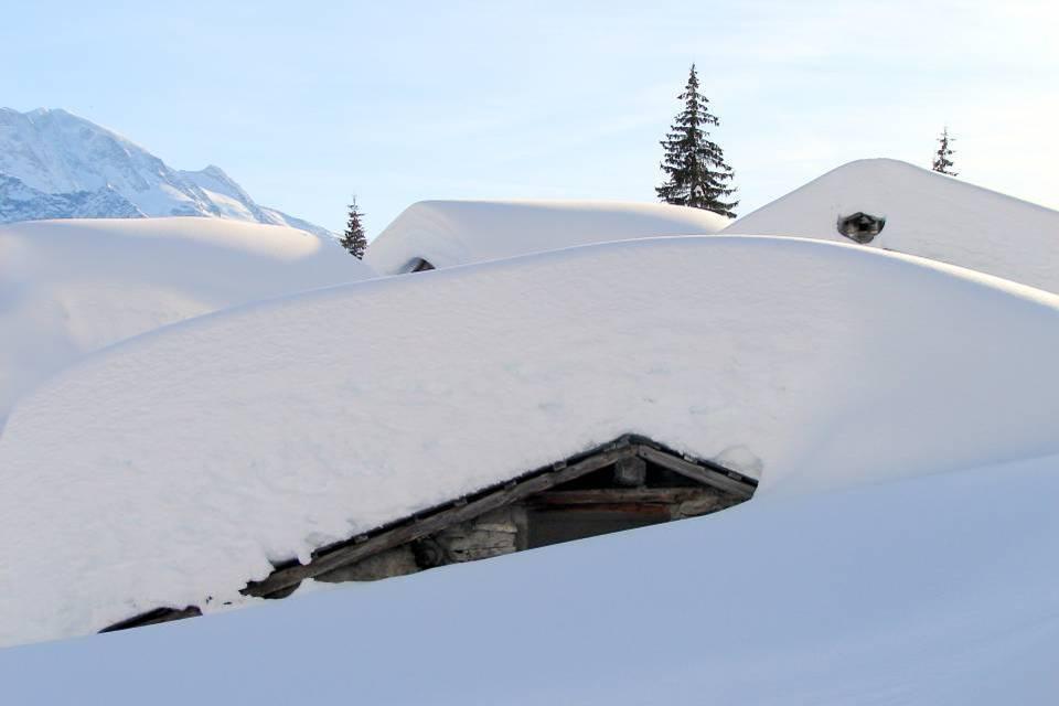 La Bérengère vue des Ayères, en hiver, à Passy (doc. J .P. Fivel, janvier 2013)