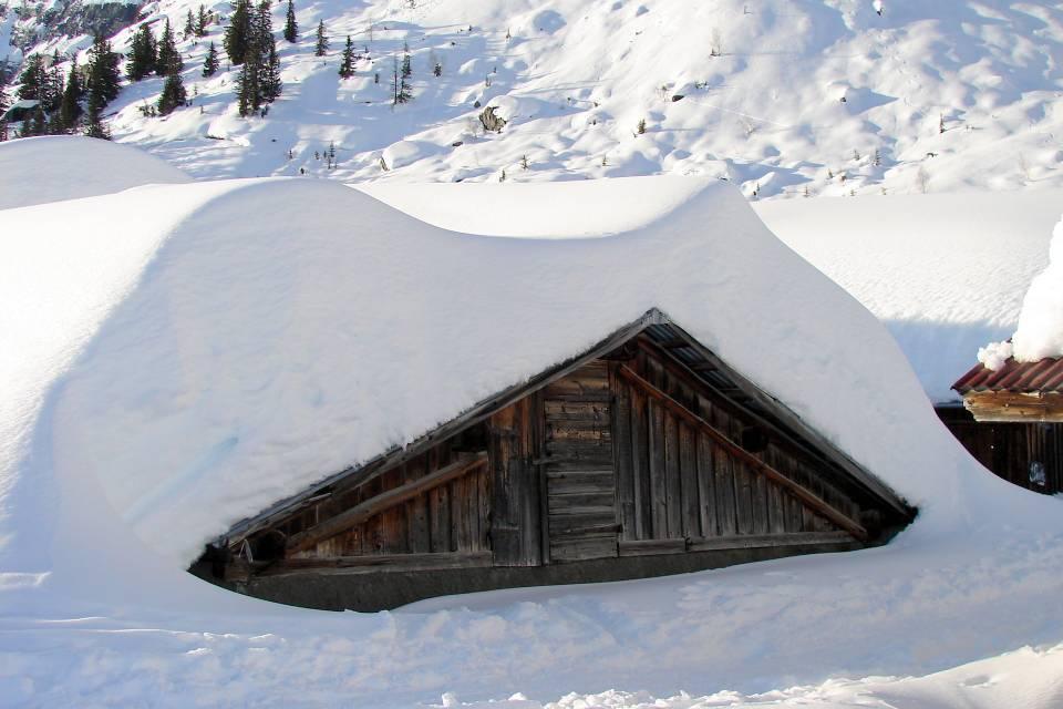Les Ayères, en hiver, à Passy (doc. J .P. Fivel, janvier 2013)