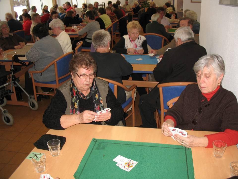 Concours de belote au Passy-Flore en janvier 2013 (Doc. Club de l'Amitié de Passy)