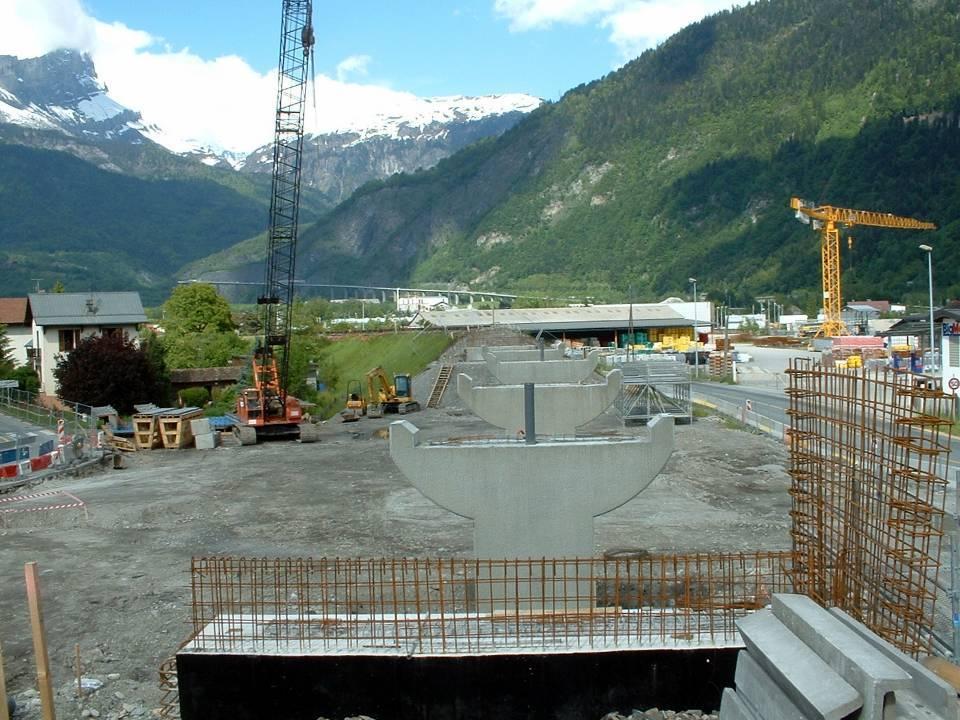 Les piles du pont de l'Aérodrome vues du tablier, 2 juin 2013 (Doc. J. Conti)