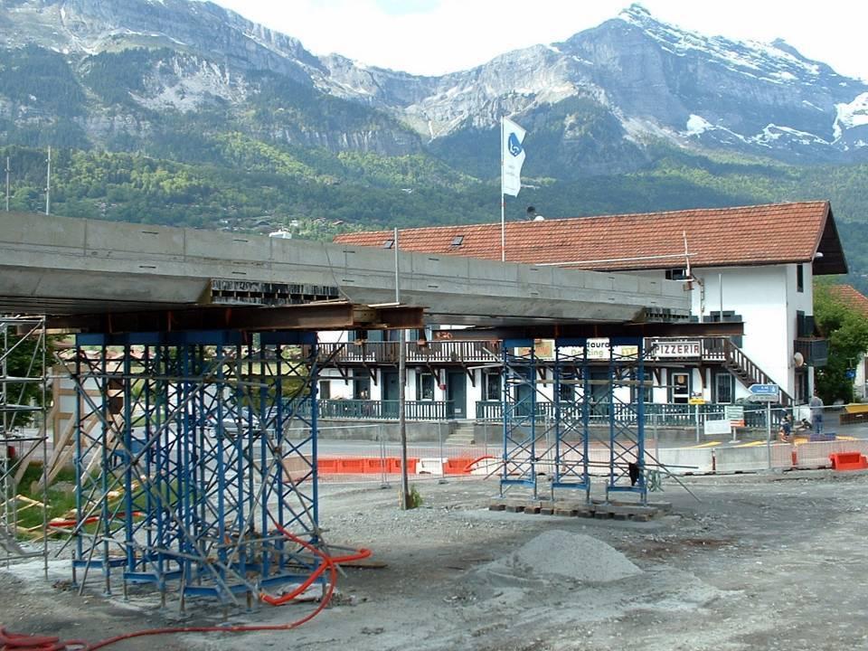 Le tablier du pont de l'Aérodrome décoffré, 2 juin 2013 (Doc. J. Conti)