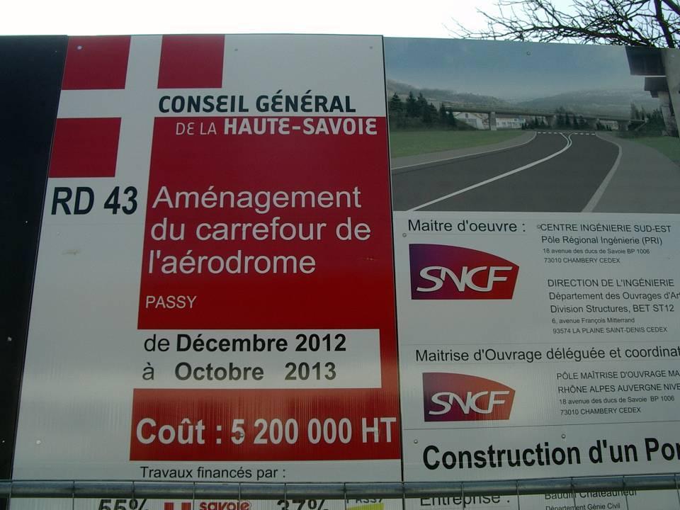 Affichage du chantier (février 2013)