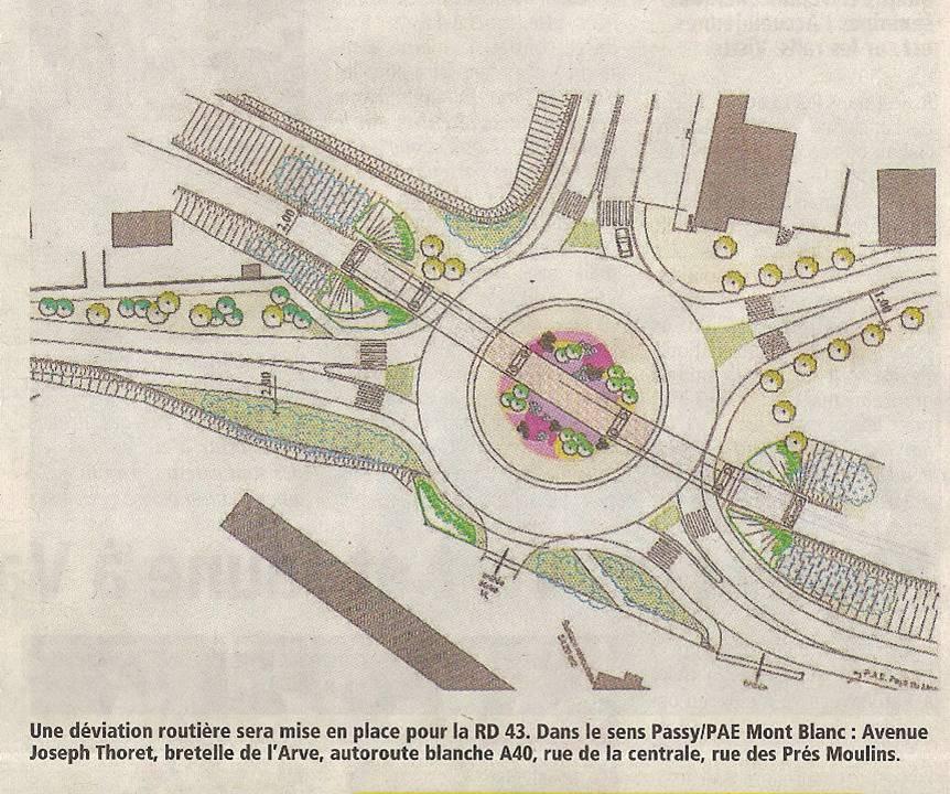 Plan du giratoire (Le Messager du 24 janvier 2013)