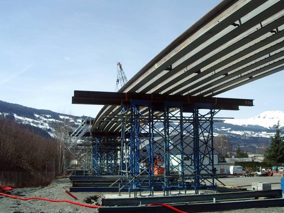 Préparation du tablier du pont SNCF de l'Aérodrome, 21 mars 2013 (cliché Bernard Théry)