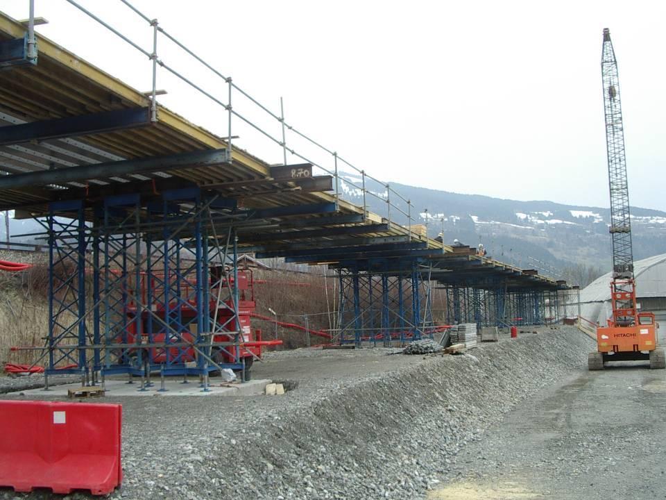 Préparation du tablier du pont SNCF de l'Aérodrome, 2 avril 2013 (cliché Bernard Théry)