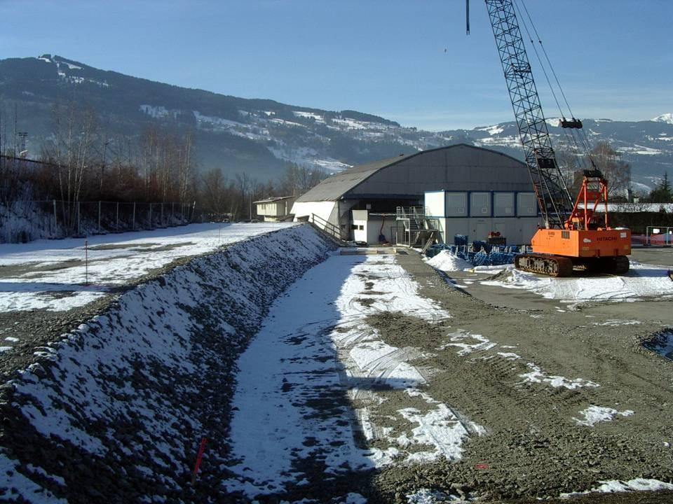 Le pont SNCF de l'Aérodrome, début des travaux, janvier 2013 (cliché Bernard Théry)