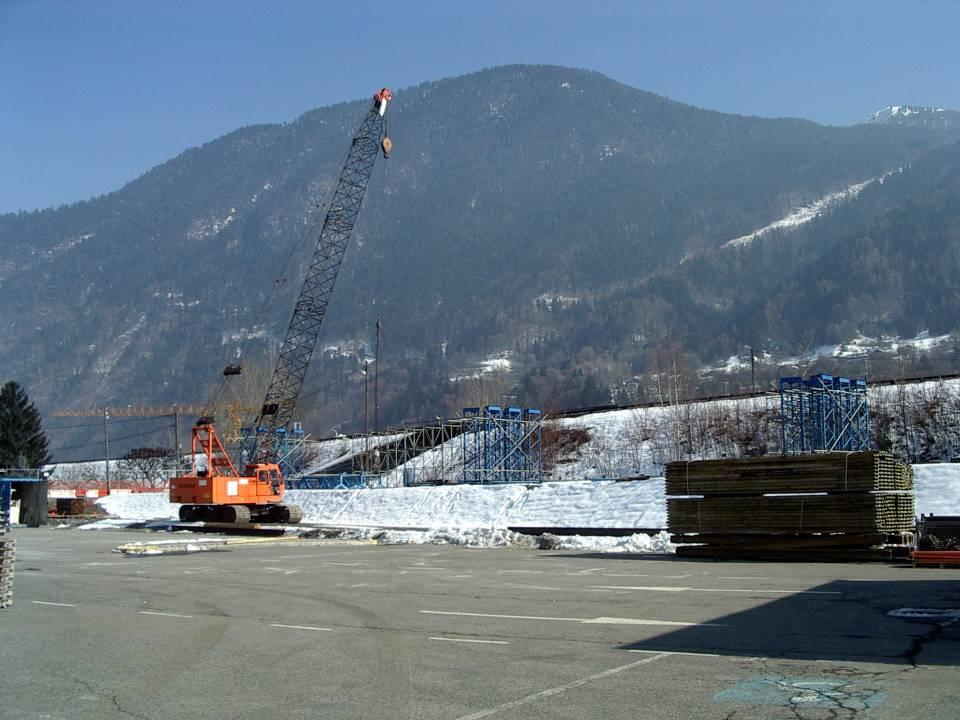 Préparation du tablier du pont SNCF de l'Aérodrome, 26 février 2013 (cliché Bernard Théry)