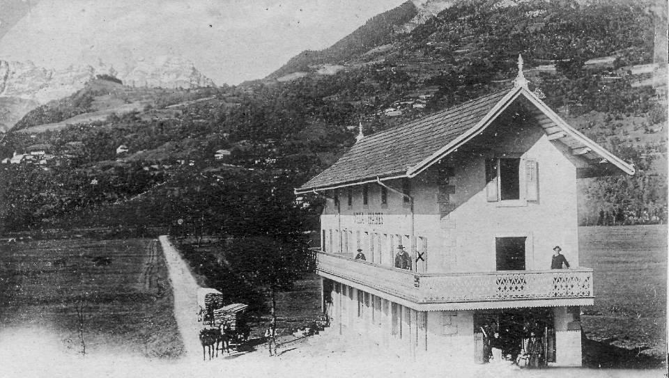 L'avenue des Grandes Platières et la Villa des Prairies (Coll. Pierre Dupraz)