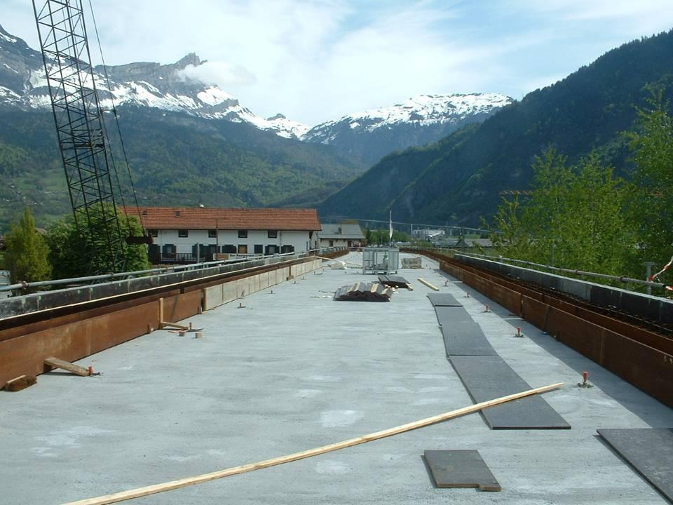 Préparation du tablier du pont SNCF de l'Aérodrome : le tablier, 2 mai 2013 (cliché Jean Conti)
