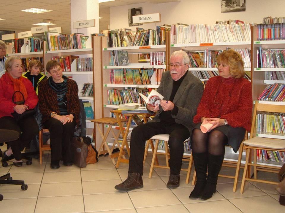 Jean-Pierre LEMESLE, à la bibliothèque de Passy, le 13 mars 2013 (cliché Bernard Théry)