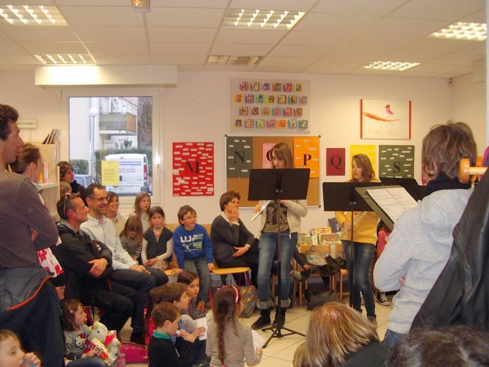 Musique et poésie à la bibliothèque de Passy, 22 mars 2013 (cliché Thérèse Théry)