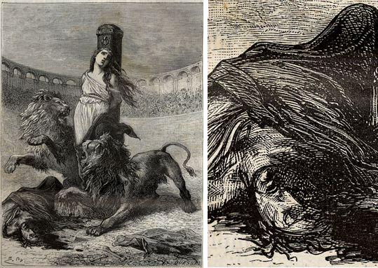 Le martyre de sainte Blandine, H. Martin, Histoire de France, 1886.