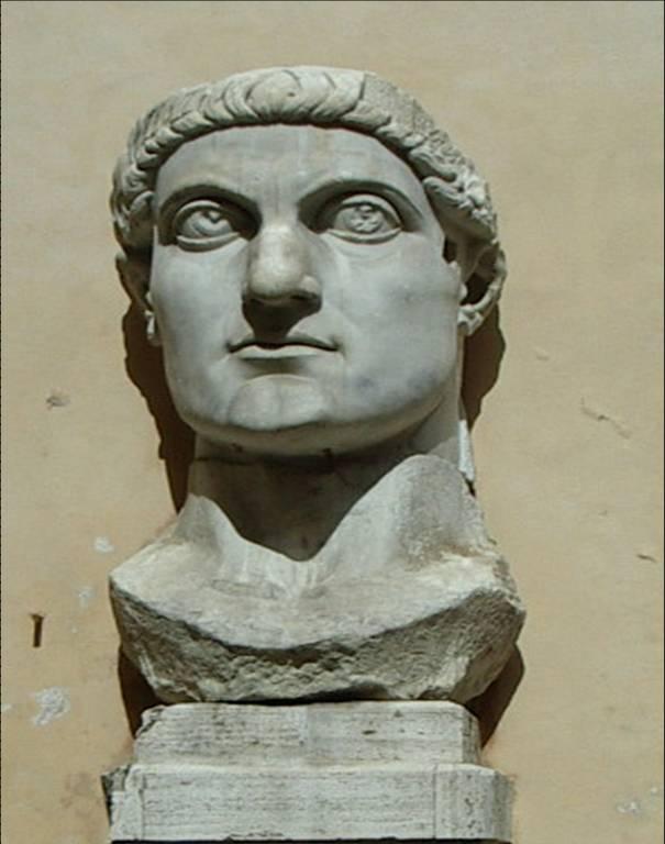 Buste de Constantin au musée du Capitole, à Rome (cliché Bernard Théry)