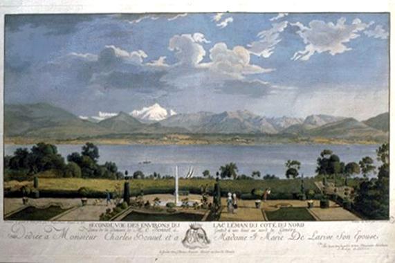 Vue des environs du lac Léman du côté du nord, par J. A. Linck