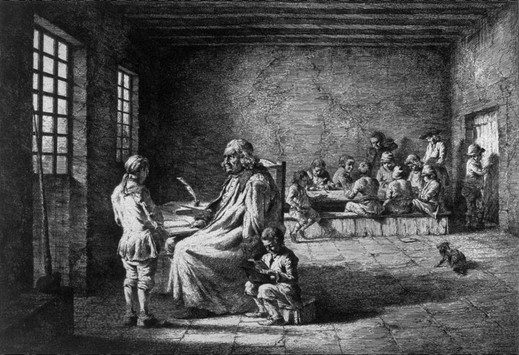 Boissieu Jean-Jacques, Le Maître d'école et ses élèves (source Internet)