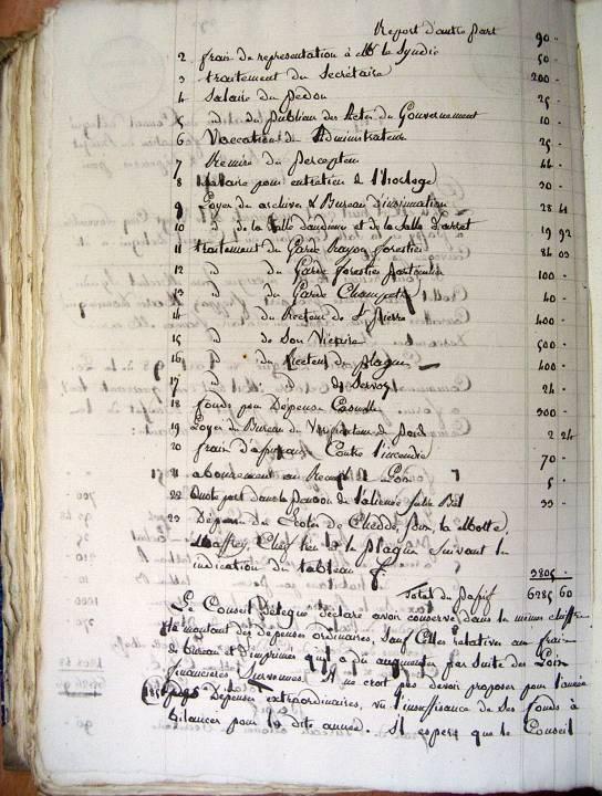 Archives municipales de Passy, délibération du 25 novembre 1850, p. 2