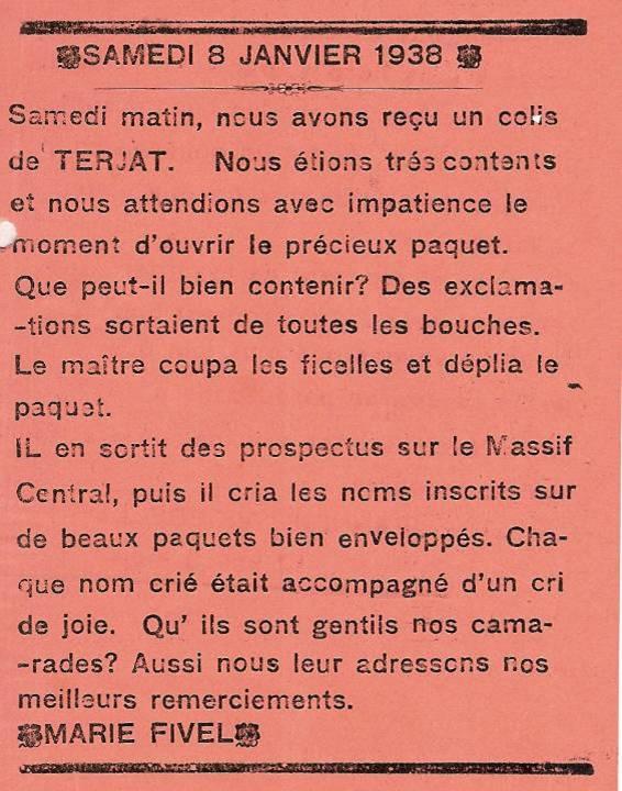 Journal scolaire de Passy « Face au Mont-Blanc », janvier 1938, p. 3