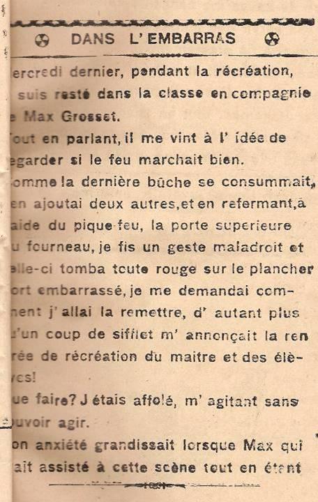 « Dans l'embarras », par Jean-Louis Guyot, Face au Mont-Blanc, octobre 1945, p. 1