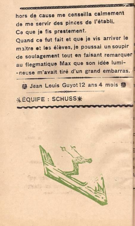 « Dans l'embarras », par Jean-Louis Guyot, Face au Mont-Blanc, octobre 1945, fin