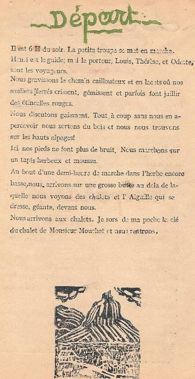 « L'Escalade », journal scolaire de Passy « Face au Mont-Blanc », juillet 1946, p. 2