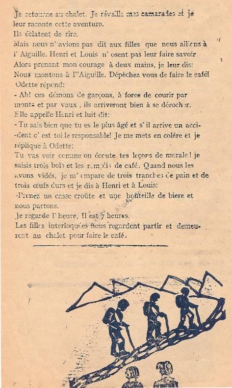 « L'Escalade », journal scolaire de Passy « Face au Mont-Blanc », juillet 1946, p. 1