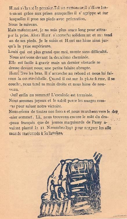 « L'Escalade », journal scolaire de Passy « Face au Mont-Blanc », juillet 1946, p. 6
