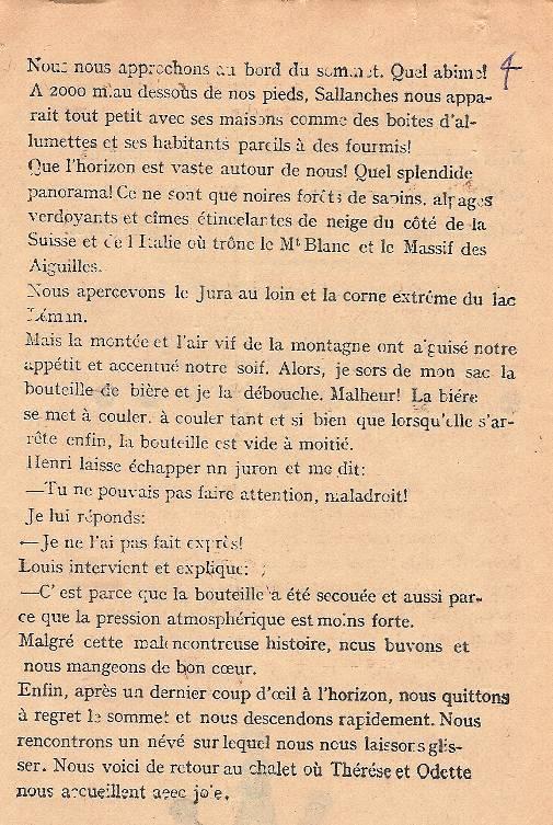 « L'Escalade », journal scolaire de Passy « Face au Mont-Blanc », juillet 1946, p. 7