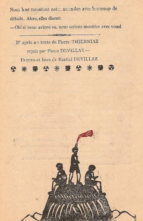 « L'Escalade », journal scolaire de Passy « Face au Mont-Blanc », juillet 1946, p. 8