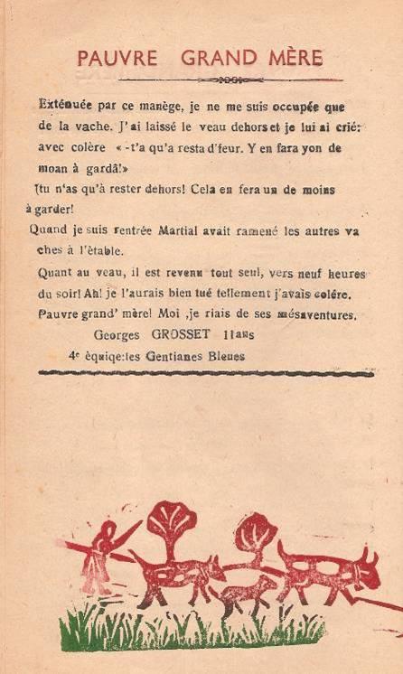"""Journal scolaire """"Face au Mont-Blanc"""", Passy, octobre 1947, p. 16 FIN"""