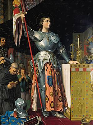 INGRES, Jeanne d'Arc lors du sacre de Charles VII à Reims (Source Internet)