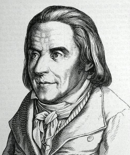 Pestalozzi, gravure de Ludwig Bechstein, 1854