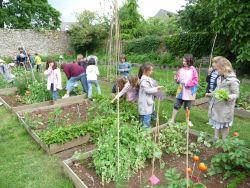 Un jardin scolaire, aujourd'hui (source : site grandchamp.fr )