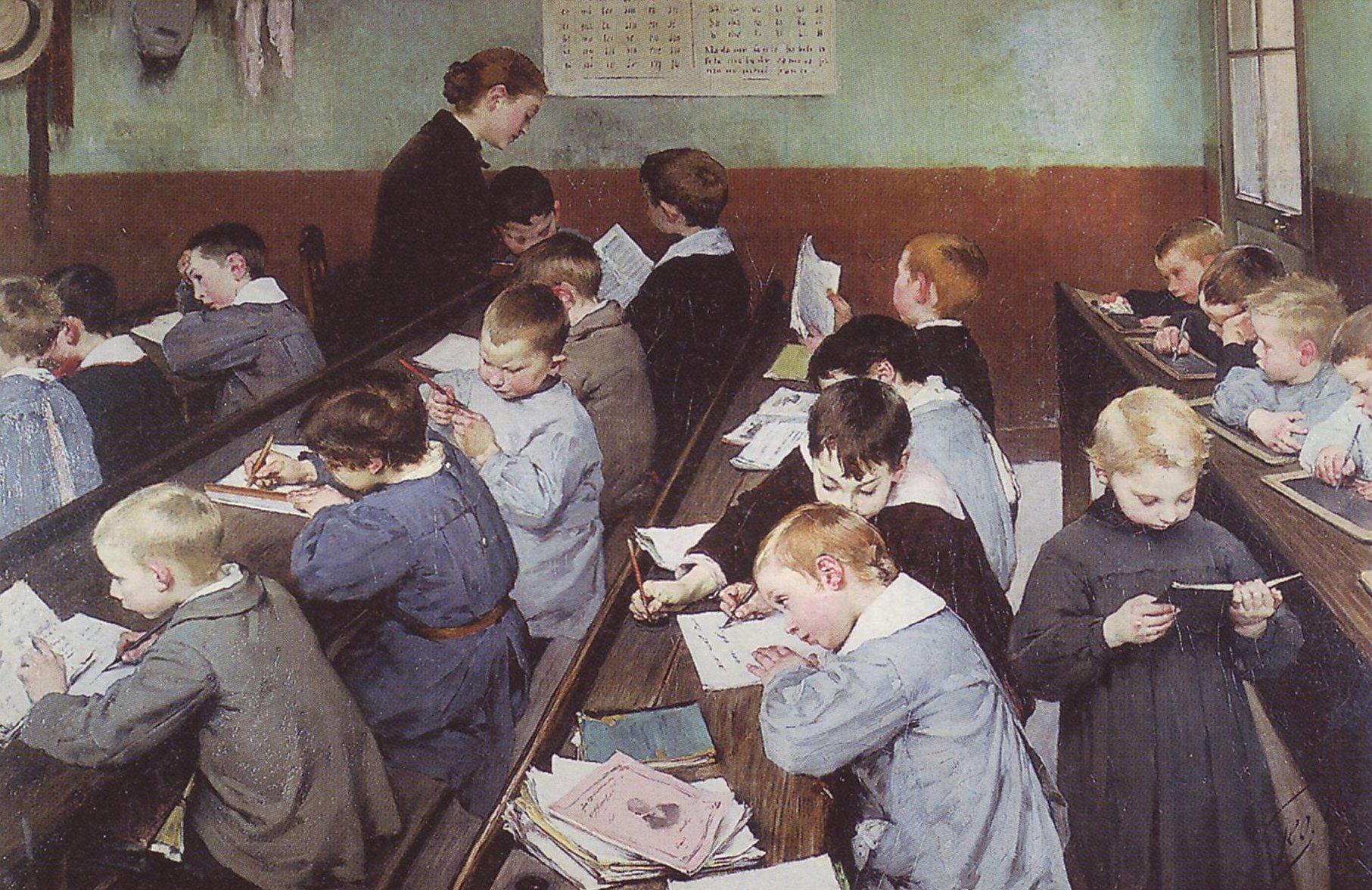 Le travail des petits, par Henry Geoffroy, 1889, Ministère de l'Éducation nationale