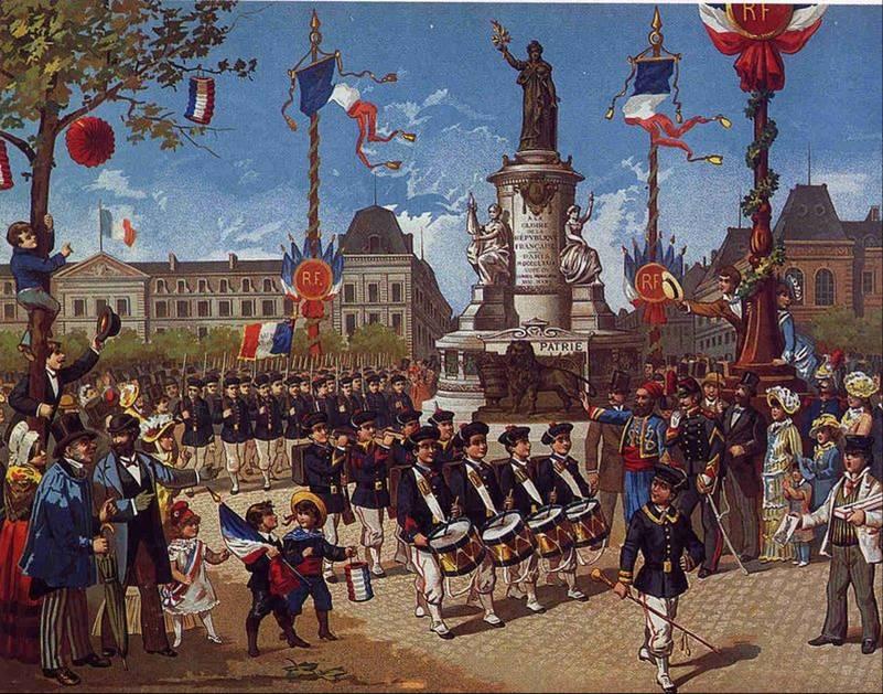 Bataillon scolaire à la Bastille (Musée Carnavalet)