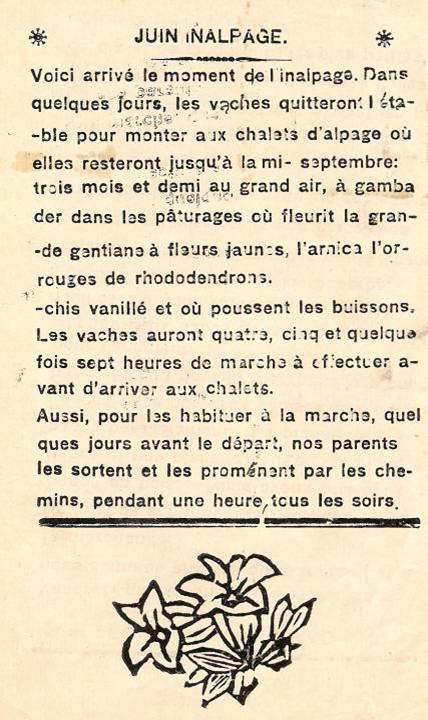 Journal scolaire de Passy, « Face au Mont-Blanc », juin 1938, p. 1 Inalpage.