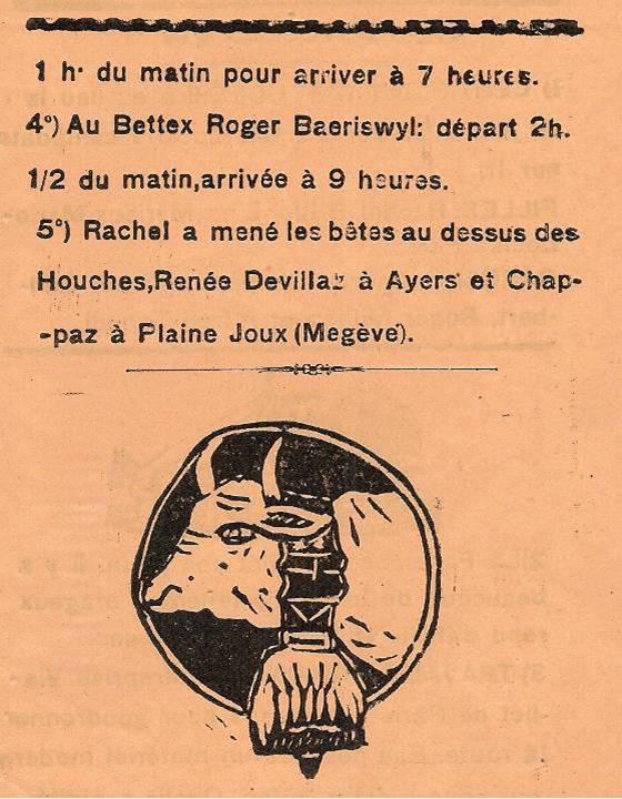 Journal scolaire de Passy, « Face au Mont-Blanc », juin 1939, p. 3 Les « montagnes » (fin)