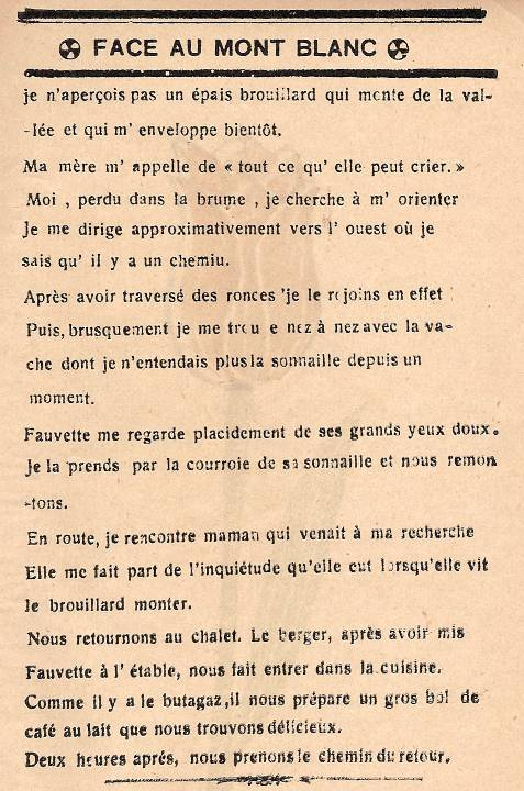 Journal scolaire de Passy, « Face au Mont-Blanc », juin-juillet 1939, p. 7 (fin)