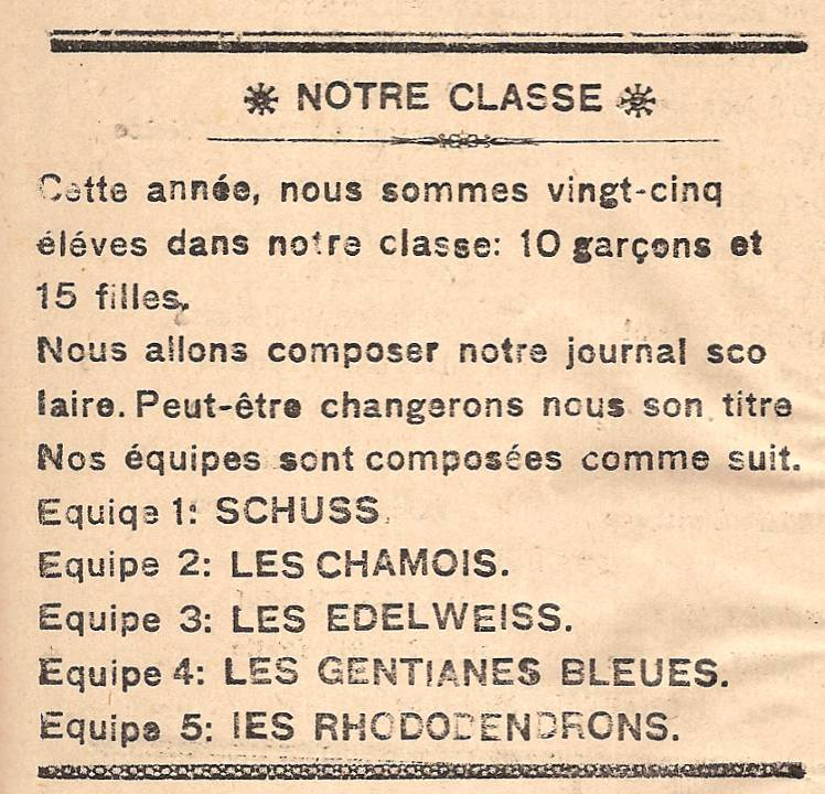 Journal scolaire de Passy « Face au Mont-Blanc », octobre 1945, p.2
