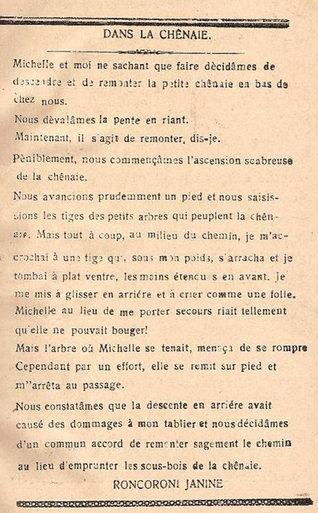 Journal scolaire de Passy « Face au Mont-Blanc », octobre 1945, p.3